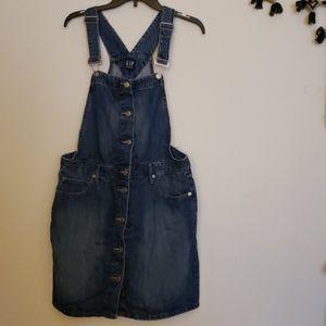 Gap Denim Overall Dress Large